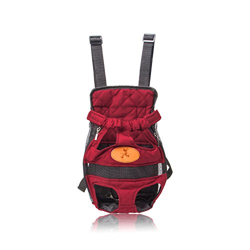 Pettom Pet Front Travel Carrier Legs Out Backpack for Dogs & Cat – Lightweight and Free Your Hands Bag- Medium
