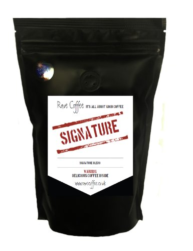 Rave Coffee Signature Blend Award Winning Fresh Roasted Ground Coffee for Filter / Cafetiere 250g