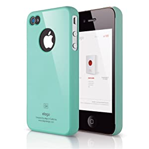 ELAGO EL-S4SM-CBL-BA S4 Slim Fit Case for AT&T, Sprint, Verizon iPhone 4/4S - 1 Pack - Retail Packaging - Coral Blue