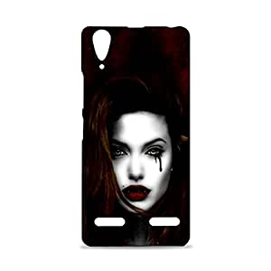 ezyPRNT Lenovo A6000 Mobile Back Case Cover with Beautiful Premium Jolie Vampire