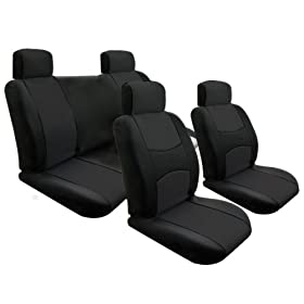 ON SALE...Univerisal Full Set Car Seat Covers Solid Black 114