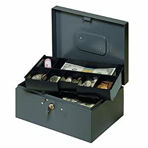 Amazon.com : MMF Industries Steel Cash Box with Safety Latch and