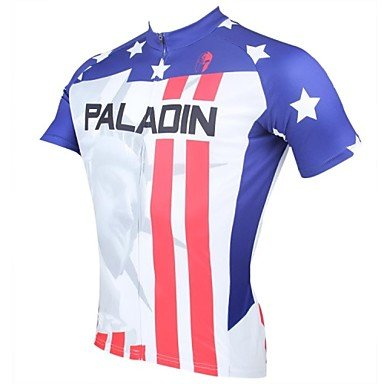 Ceiling Light's Men's Spring and Summer Style 100% Polyester Short Sleeved Cycling Jersey(DX008)