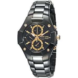 Click to buy Seiko Watches for Men: SNAC75 Coutura Alarm Chronograph Watch from Amazon!
