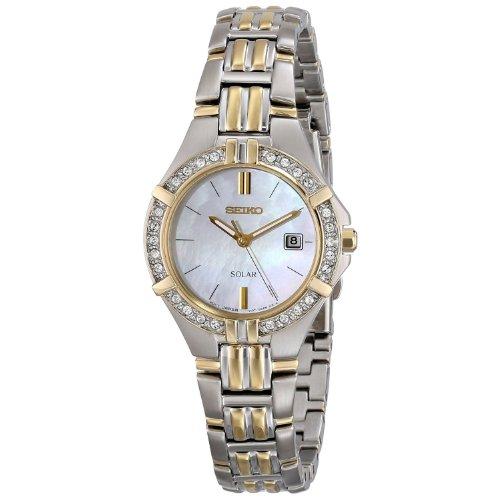 Seiko Women's SUT088 Dress Solar Sporty Crystals Japanese Quartz Watch