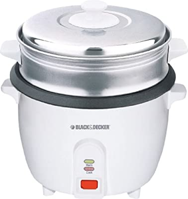 Black & Decker RC1000 1.0-Liter (5-Cup) Stainless Steel Rice Cooker, 220-240 Volts from Gandhi - Appliances