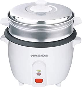 Black & Decker RC1000 1.0-Liter (5-Cup) Stainless Steel Rice Cooker, 220-240 Volts by Black & Decker