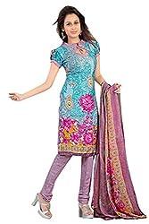 Variation Women's Blue Jacquard Unstiched Dress Material (VD11935)
