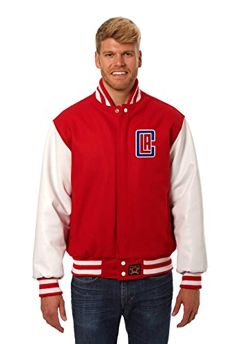 Los Angeles Clippers Wool and Leather Varsity Jacket (XXX-Large)
