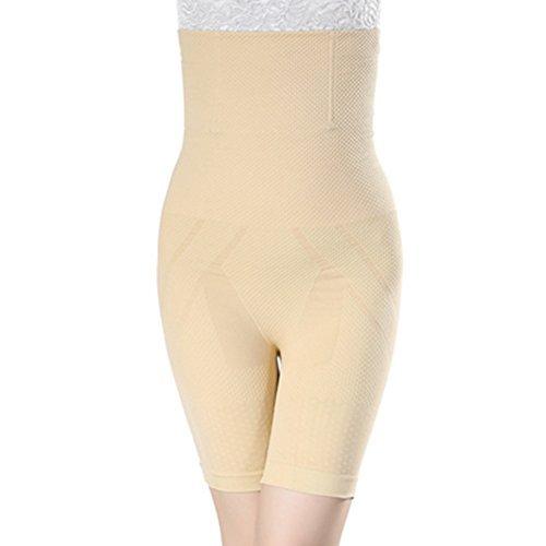 Burvogue Damen Elastisch Hohe Taille Figurformend Oberschenkel Eng Slip