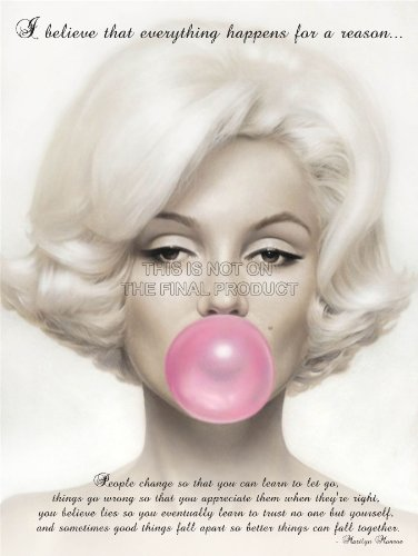 """Believe Everything Happens Reason Marilyn Monroe Quote 12X16 """" Poster Qu266B"""