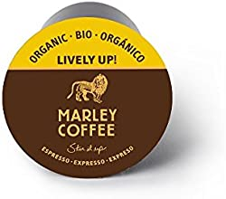 Marley Coffee Lively Up Organic Espresso Roast, 24 Count, compatible with Keurig K-Cup Brewers