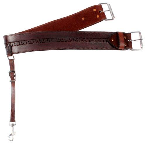 MEDIUM OIL SMOOTH LEATHER WESTERN HORSE SADDLE BACK CINCH REAR CINCH BACK GIRTH CINCH BUCKLE HORSE TACK (Standard)