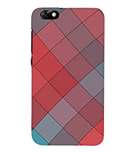EPICCASE pink and ash blocks Mobile Back Case Cover For Huawei Honor 4X (Designer Case)