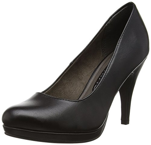 Tamaris22417 - Decolleté chiuse Donna , Nero (Nero (Black Matt 015)), 38