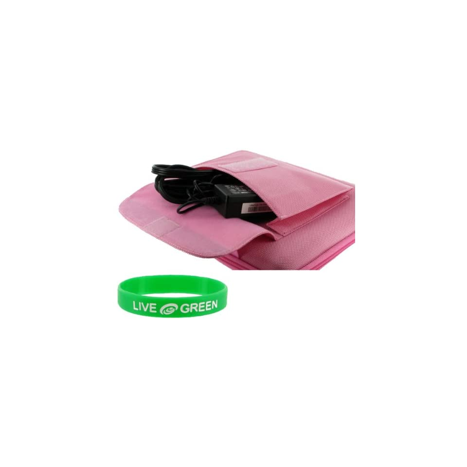 Dell Inspiron Mini 1011 10.1 Inch Obsidian Black Netbook Carrying Case (Cube Pocket   Pink)