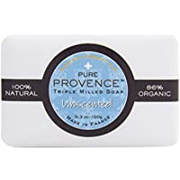 Pure Provence Natural And Organic Triple Milled Soap, 5.3oz (150g) Bar. Made In France. With Organic Shea Butter...