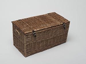 terracotta spice coffre de rangement en osier miel taille m 70 cm cuisine maison. Black Bedroom Furniture Sets. Home Design Ideas