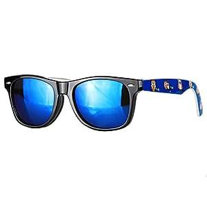 caripe Wayfarer Sonnenbrille verspiegelt - SP (Eule blau - blau verspiegelt)