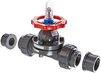 "Hayward PVC Diaphragm Valves, FPM Seal, 1-1/2"" Socket/Threaded"