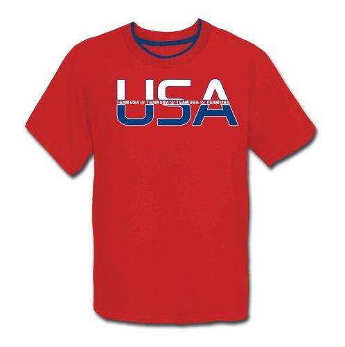 Team Usa Cutaway Short Sleeve Ringer Tee Shirt Beijing