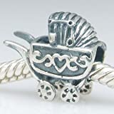 Baby Carriage Authentic 925 Sterling Silver Bead Fits Pandora Chamilia Biagi Troll Charms Europen Style Bracelets