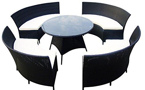 Baidani 10c00018.00001 Sitzgruppe Rondello XXL, 5-teilig, schwarz günstig online kaufen