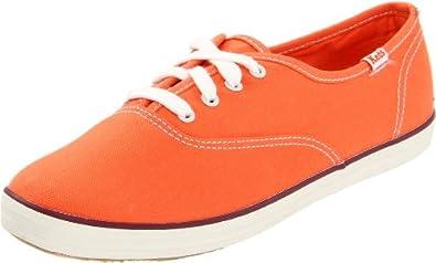 Keds Women's Champion Solid CVO Lace-Up Fashion Sneaker,Orange,6.5 M US