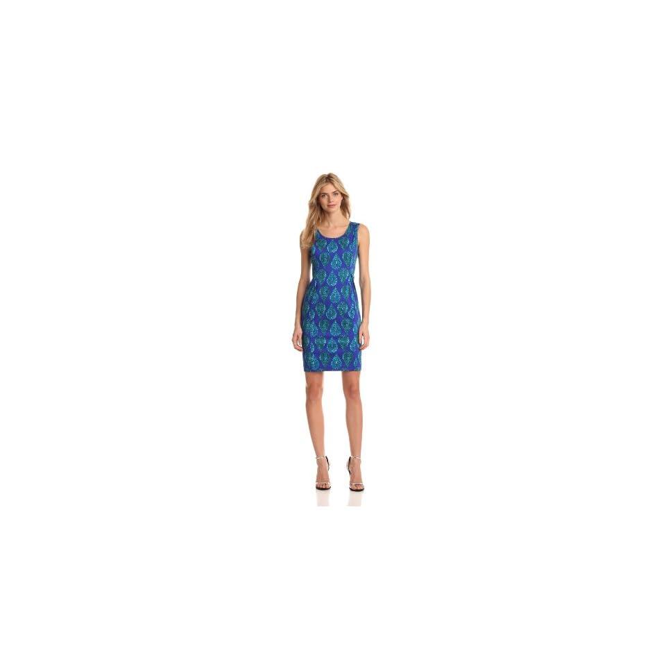 Jones New York Womens Sleeveless Shift Dress, Ultramarine Combo, 6