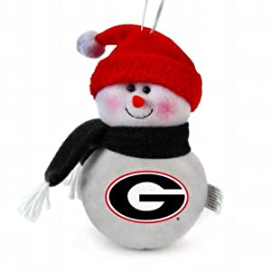 NCAA 6' Plush Snowman Ornament (Set of 3) NCAA Team: Georgia