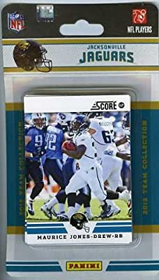 2012 Score Jacksonville Jaguars Factory Sealed 12 Card Team Set Including Maurice Jones-Drew, Blaine Gabbert, Justin Blackmon's Rookie Card, Daryl Smith, Dawan Landry, Jason Hill, Laurent Robinson, Jeremy Mincey, Marcedes Lewis, Mike Thomas, Paul Posluszn