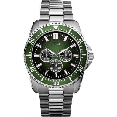 Guess W10245G3 - Reloj analógico de cuarzo para hombre con correa de acero inoxidable, color plateado