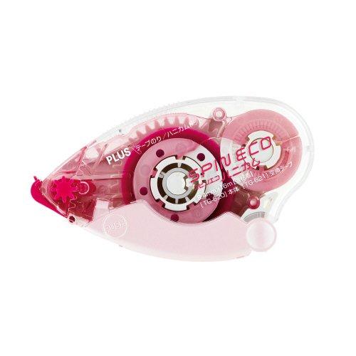 プラス テープのり (スピンエコハニカム.16m) 10個入 (ピンク) TG-620-10 382-166