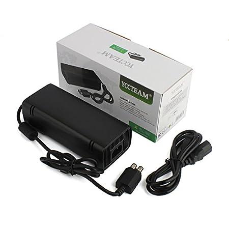 YCCTEAM® Xbox 360 Slim AC Adapter Power Supply 100-240V Auto Voltage,Black