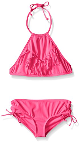 Billabong Little Girls Sol Searcher Halter Swim Suit, Pop Pink, 4