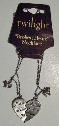 -   Twilight The Movie Lamb Lion Broken Heart Necklace