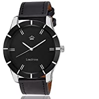 LimeStone Black Wolf Round Casual Analog Black Watch - LS2608+063