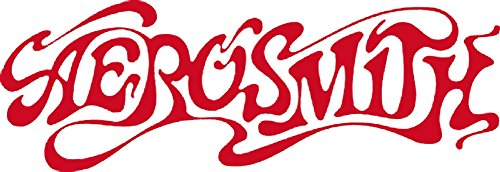 CandD Visionary Aerosmith - 60's Logo Rub-On Sticker Red