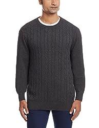 Nautica Mens Cotton Sweater (8907259533933_NTS531000TB_Medium_True Black)