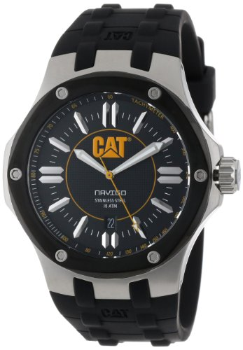 Men's Caterpillar Yellow Steel Navigo Watch CAT A1 161 21 124