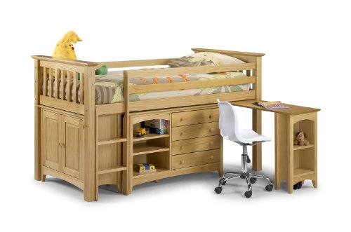 Sleep Station Barcelona Style, Pine Wood Childrens Kids Bed, Chest Drawers Wardrobe Storage with MEMORY FOAM MATTRESS