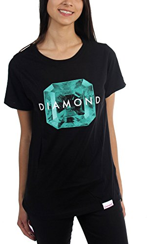Diamond Supply Co. - Womens Rare Gem T-Shirt, Size: Large, Color: Black/Green (Diamond Supply Co T Shirt Womens compare prices)