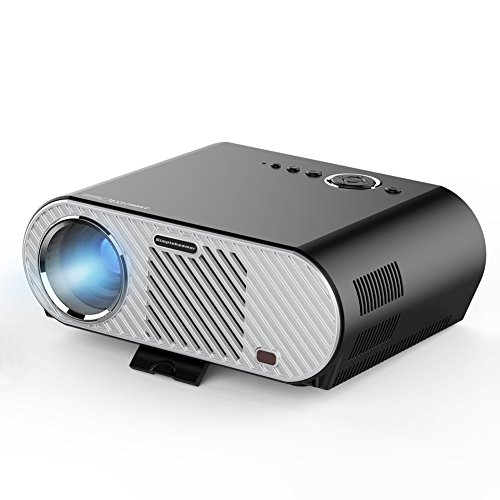 Erisan Android WiFi Bluetooth Projector Warranty Included Support Full HD 1080P ERISAN Multimedia Mini Pro Portable LED Projector For Home Theater Movie Video Games E