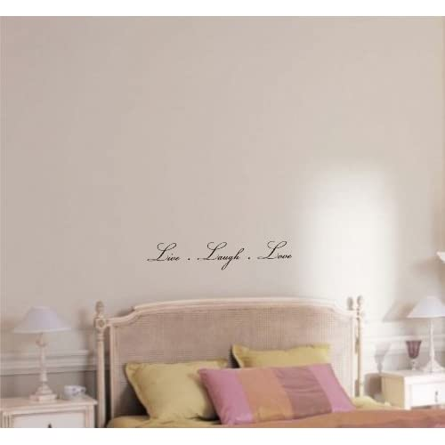 Live Laugh Love Vinyl wall art Inspirational quotes and saying home decor decal sticker steamss