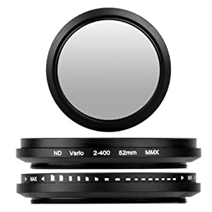 52mm Adjustable Neutral Density ND Fader Filter ND2 ND4 ND8 to ND400
