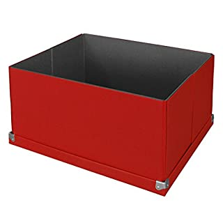 Pop n' Store Decoratiive Storage Box with Lid - Collapsilbe - Large Mega Box - Red - 15.5
