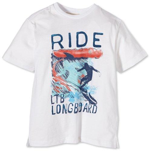 LTB Jeans Jungen T-Shirt Ride T/S, Gr. 176 (Herstellergröße: 15-16), Weiß