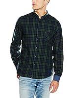 Desigual Camisa Hombre Hallo Rep (Azul / Verde)