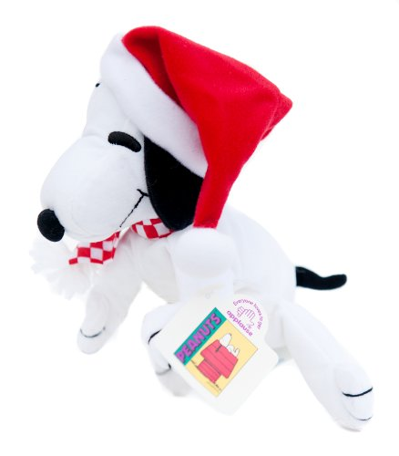 Applause Peanuts Snoopy Santa Plush Beanie - 1