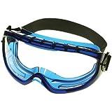 Monogoggle XTR Safety Goggles - monogoggle blue frame anti fog clear lens